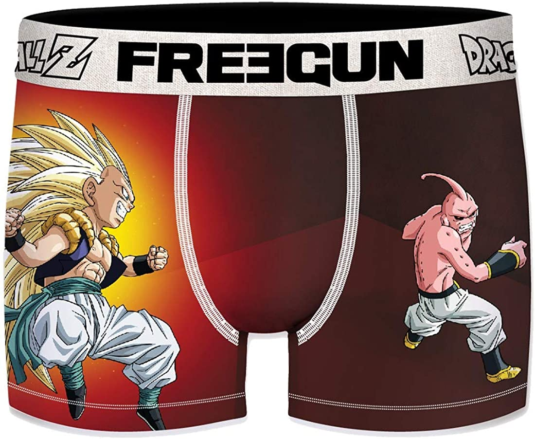 Freegun underwear Boxer Freegun Homme Dragonball en Microfibre Assortiment mod/èles Photos Selon arrivages Multicolore