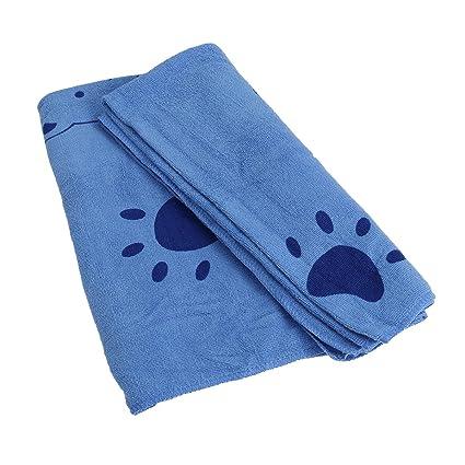 POPETPOP Toalla de Baño Albornoz para Perros Gatos Lavable Pijamas de Secado Rápido Absorbente de Mascota