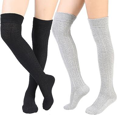 Women's Over Knee Thigh High Socks Knit