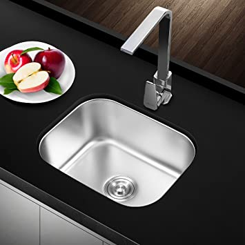 single bowl two bowls deep drop in t 304 stainless steel bar kitchen sink 22 amazon com  single bowl two bowls deep drop in t 304 stainless      rh   amazon com