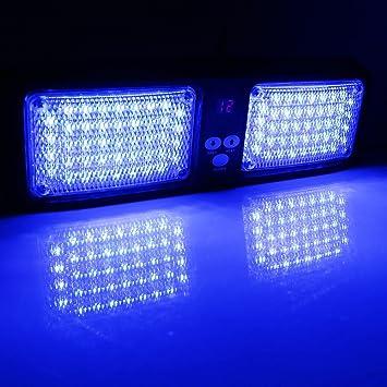 VGEBY 12V 86 LED Luz de Advertencia de Peligro para Techo Interior de Coche Lámpara de Faro de Emergencia de Coche Flash Luz Estroboscópico (Color : ...