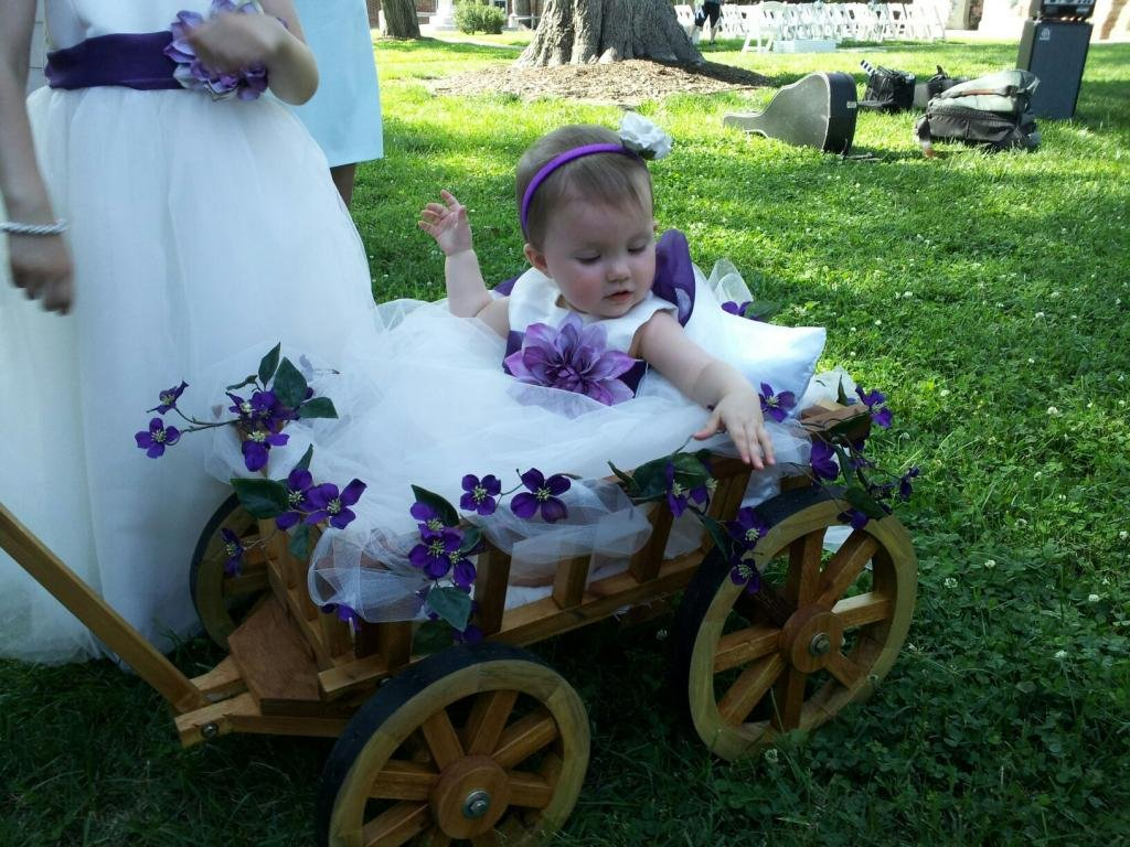 Amazon.com : Small Flower Girl Pumpkin Wagon - Unfinished : Baby