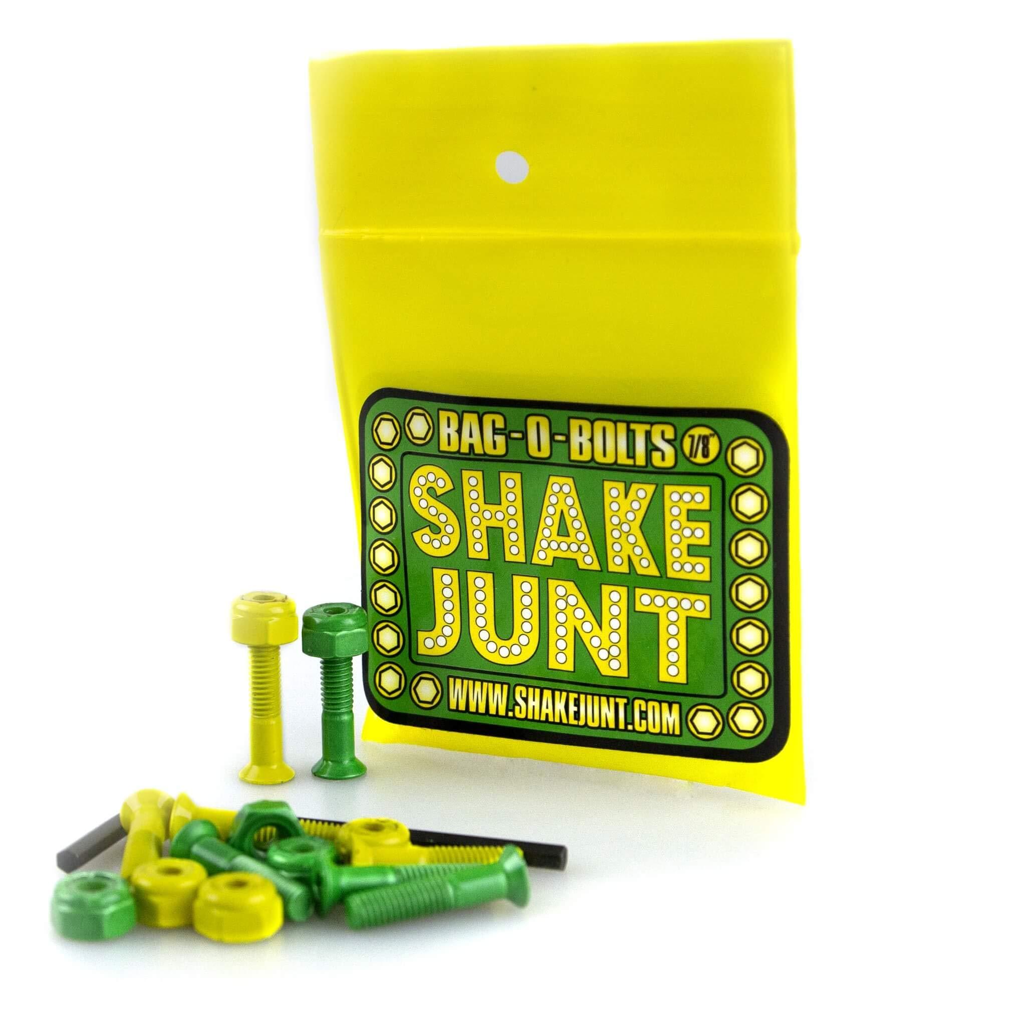 """Shake Junt Bag-O-Bolts All Green & Yellow 1"""" Allen 1-Set"""