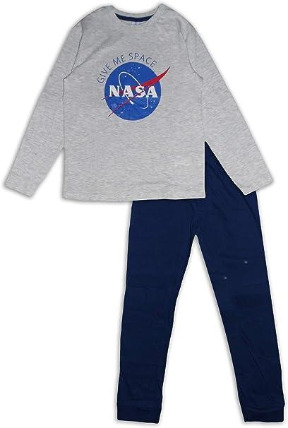 Nasa - Pijama de algodón para niños Gris Gris 12 años: Amazon.es ...