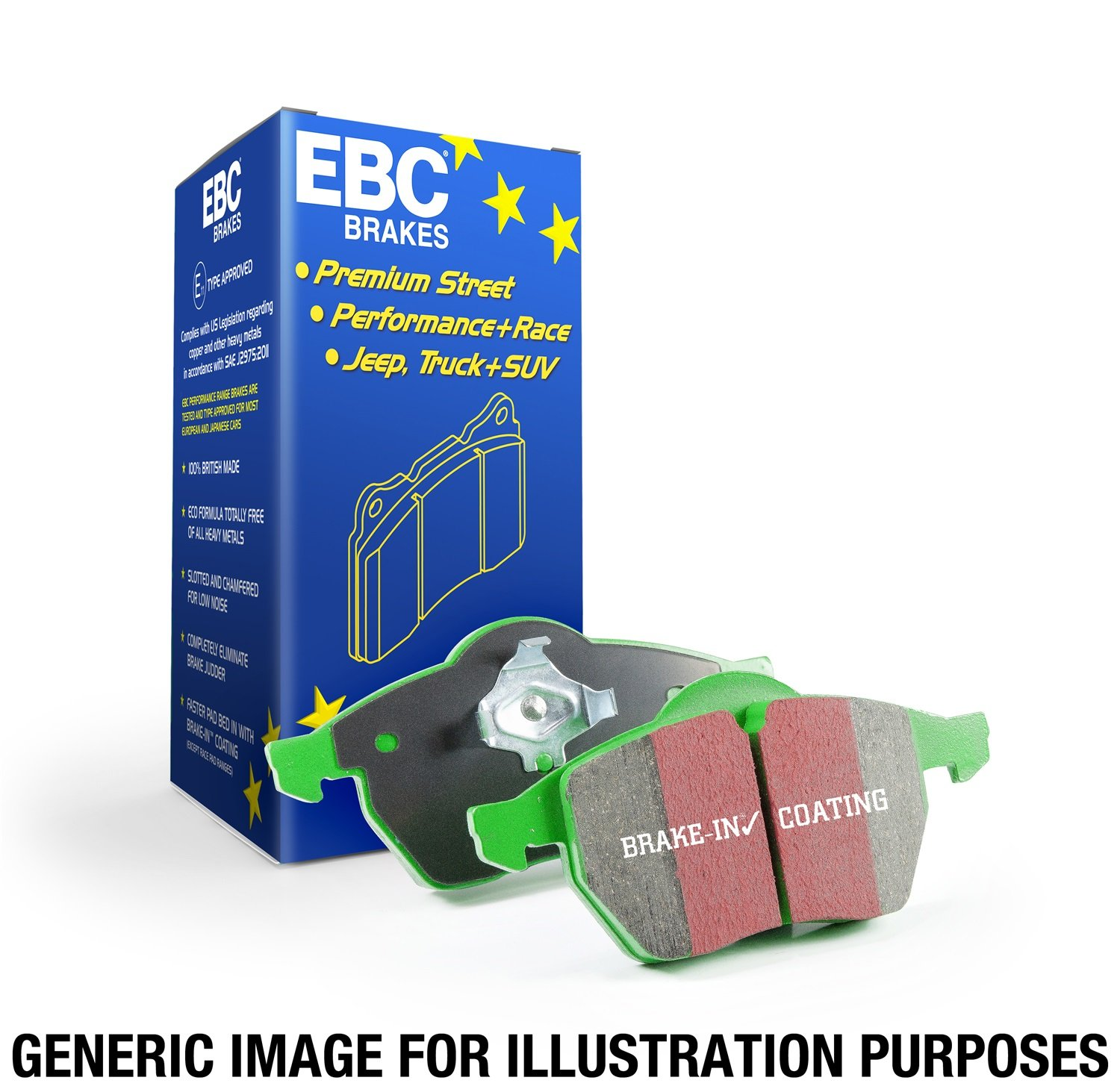 EBC Brakes DP61639 6000 Series Greenstuff Truck and SUV Brake Pad