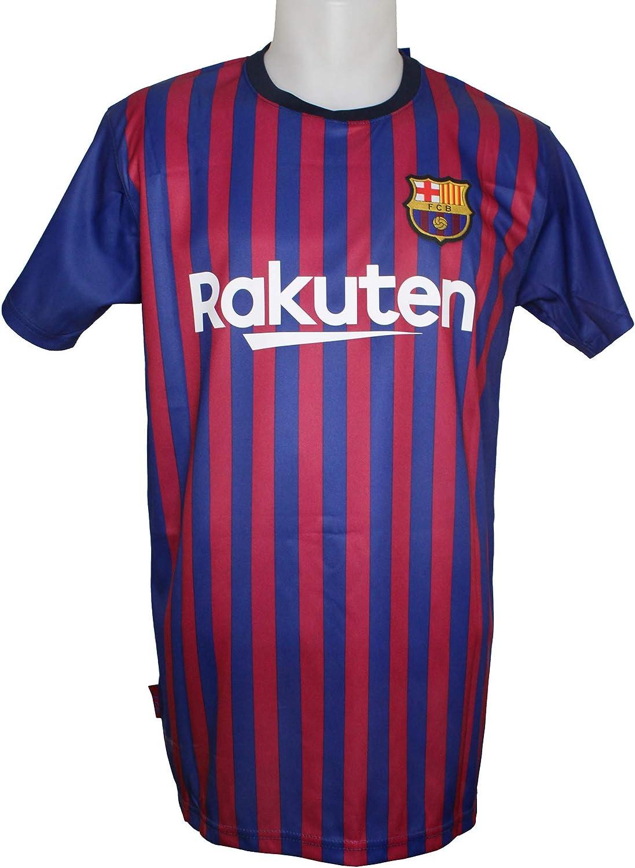 FC. Barcelona Camiseta Réplica Adulto Primera Equipación 2018/2019 - Dorsal Liso - Producto Bajo Licencia (M): Amazon.es: Deportes y aire libre
