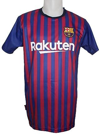 Camiseta Réplica Adulto Primera Equipación FC Barcelona 2018/2019 - Dorsal MESSI 10 - Producto Bajo Licencia: Amazon.es: Ropa y accesorios