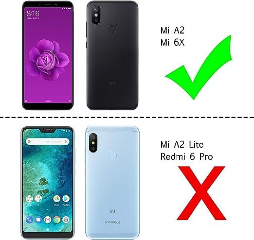Felfy Funda Compatible con Xiaomi Mi 6X Carcasa,Compatible con Funda Xiaomi Mi A2 Transparente Silicona,Moda Pintado Patr/ón Ultra Delgado Anti-Ara/ñazos TPU Case.Pluma