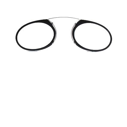 Gafas de Lectura tipo Quevedo Hombres o Mujeres con Estuche Duro (+1.5, Negro