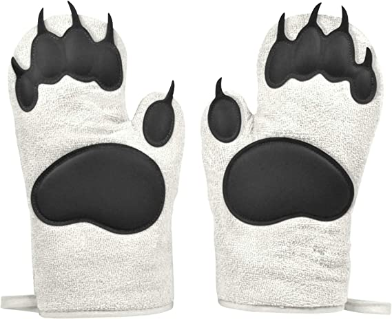 Fred Polar Bear Hands Oven Mitts Set Of 2 Kitchen Dining Amazon Com