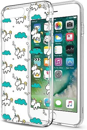 Eouine Cover iPhone 8 Plus, Ultra Slim Cover Trasparente con Disegni, Morbido Antiurto 3d Cartoon Gel Custodia Bumper Case in TPU Silicone per Apple ...