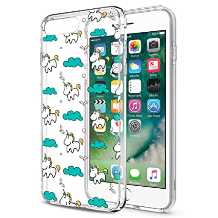 Eouine Funda iPhone 8, Funda iPhone 7, Cárcasa Silicona 3D Transparente con Dibujos Diseño [Antigolpes] Case Cover Protector Fundas para Movil Apple ...