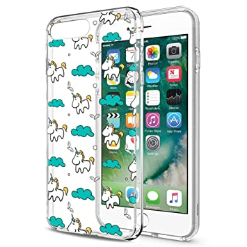 Eouine Funda iPhone 8 Plus, Funda iPhone 7 Plus Cárcasa Silicona 3D Transparente con Dibujos [Antigolpes] Protector Fundas Movil para Apple iPhone ...