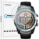 (4 Pack) Orzero For Ticwatch Pro 4G, Ticwatch Pro, Ticwatch Pro 2020 Smartwatch Tempered Glass Screen Protector, 2.5D Arc Edg