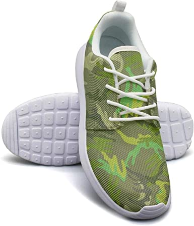 Green Army Leafy Camo Walking Shoes