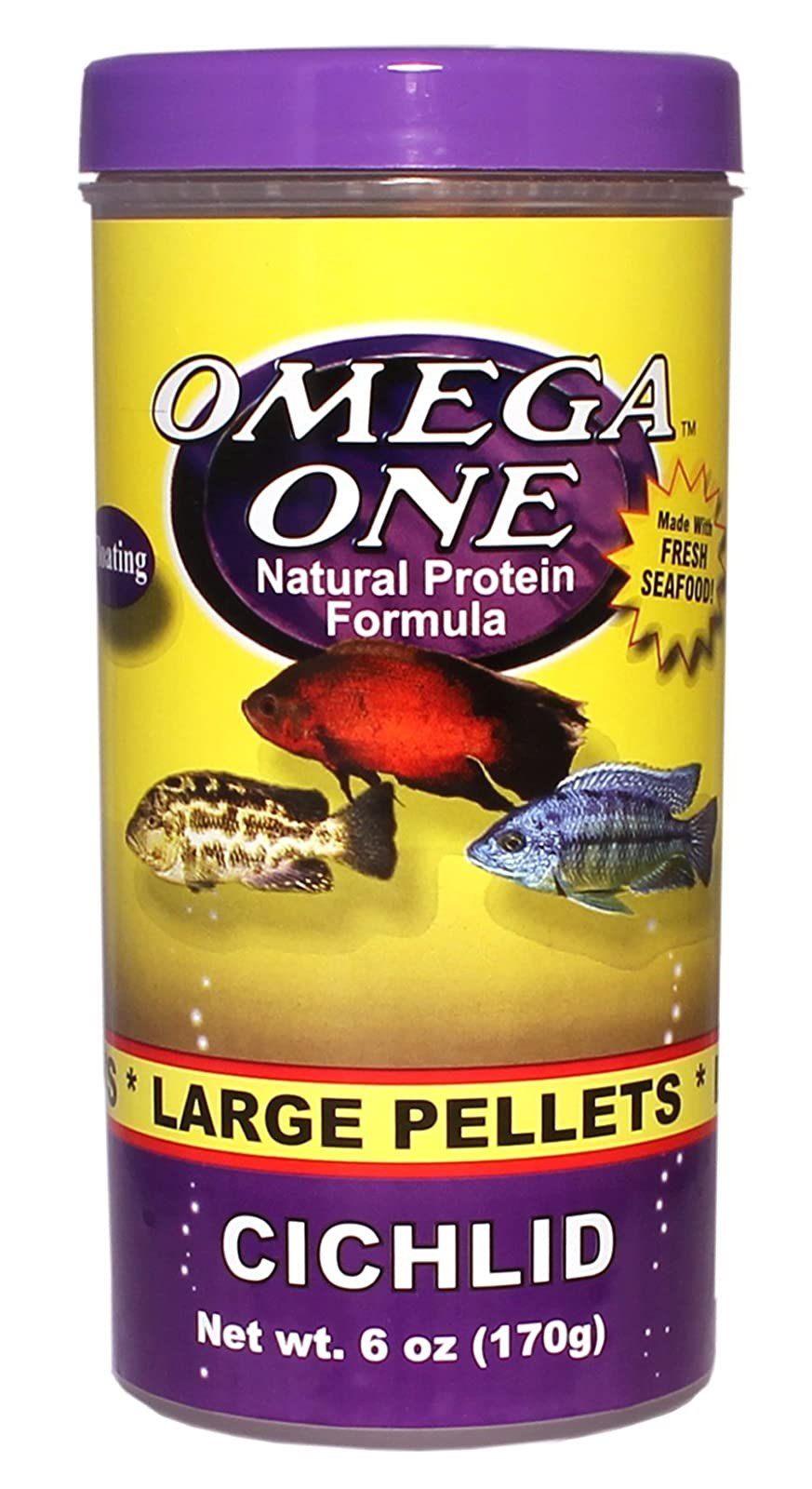Omega One Cichlid Pellets - Large Floating 6oz. 54431 - 1