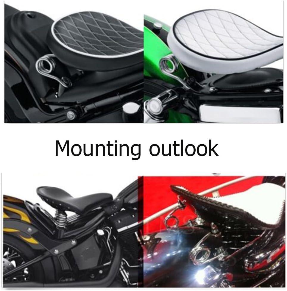 OSAN Soporte Muelles Asiento Moto Kit de Montaje Montura Soporte Sillin Moto para Harley Chopper Bobber