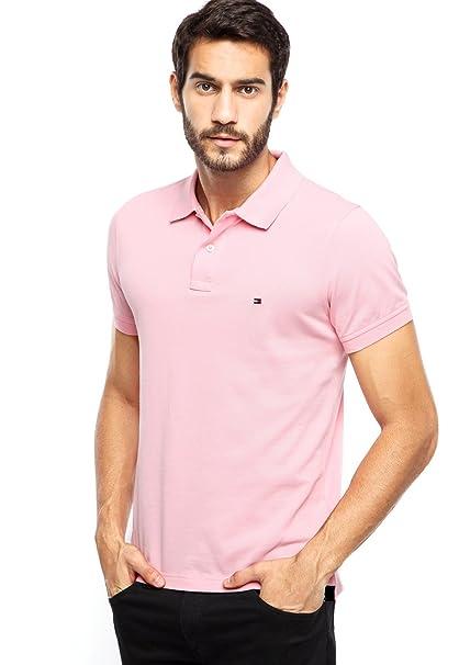Tommy Hilfiger - Polo - para Hombre Rosa Pink Medium: Amazon.es ...