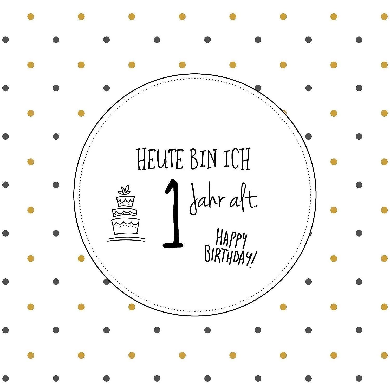 Premium Baby Milestone Cards - süße Meilenstein Karten für Babys (1-12 Monate), stilvoll monochrom, aus hochwertigem 300g Qualitätspapier, 14x14 cm, deutsch