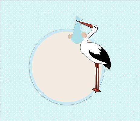 Amazon Laminated Poster Stork Baby Shower Card Illustrations