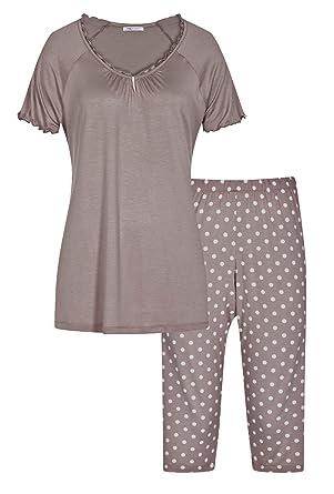 115db2c53c Mey Damen Schlafanzug mit 3/4-Hose 13802: Amazon.de: Bekleidung