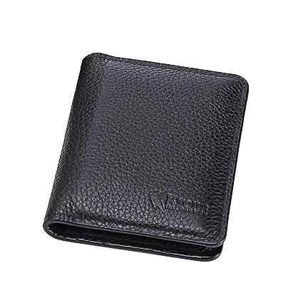 cb0c67ed5a99 Krone Kalpasmos Mens Wallets Genuine Leather Minimalist Pocket Wallet  Bifold RFID-Blocking Secure Men s Gift