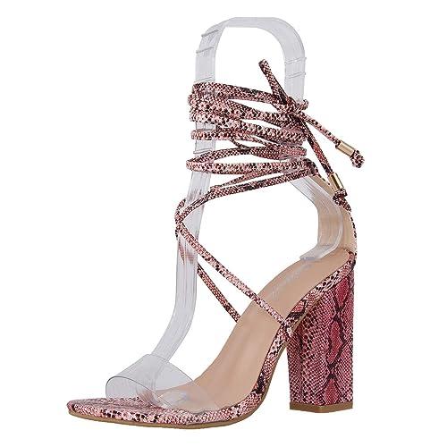3d13932dfdc JSUN7 Women's Fashion Chunky High Heel Sandal Pump Shoe