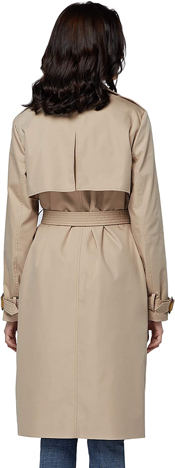 Orolay Womens Trench Coat with Belt Lightweight Double-Breasted Midi Length Overcoat