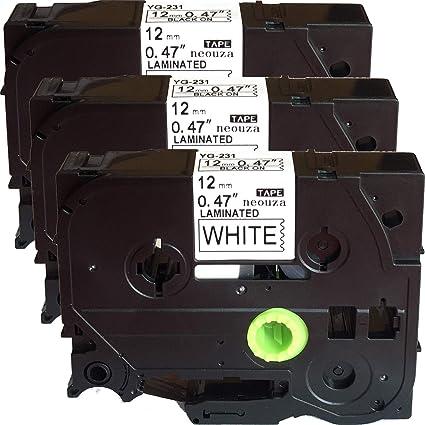 ACD - 3 carretes de cinta de etiquetas negras sobre blanco ...