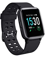 Smart Watches 2019 Version,Arbily Smartwatch with Heart Rate Monitor Smart Watche for Android iOS Phone,Activity Tracking,Sleep Monitoring,Swimming,Sport Watch Fitness Tracker for Kids Women Men,Black