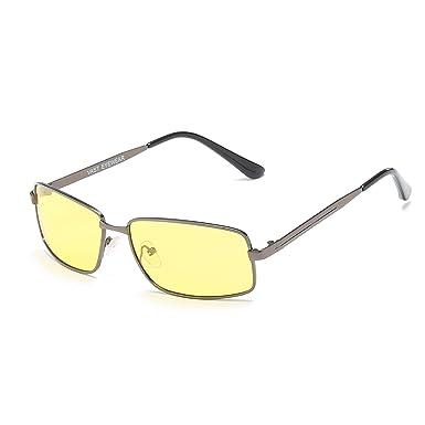 e6f1528ffb Vast HD TAC Polar Vision Polarized Rectangle MEN Sunglasses  (POLO2040 GUN BLACK YELLOW)  Amazon.in  Clothing   Accessories
