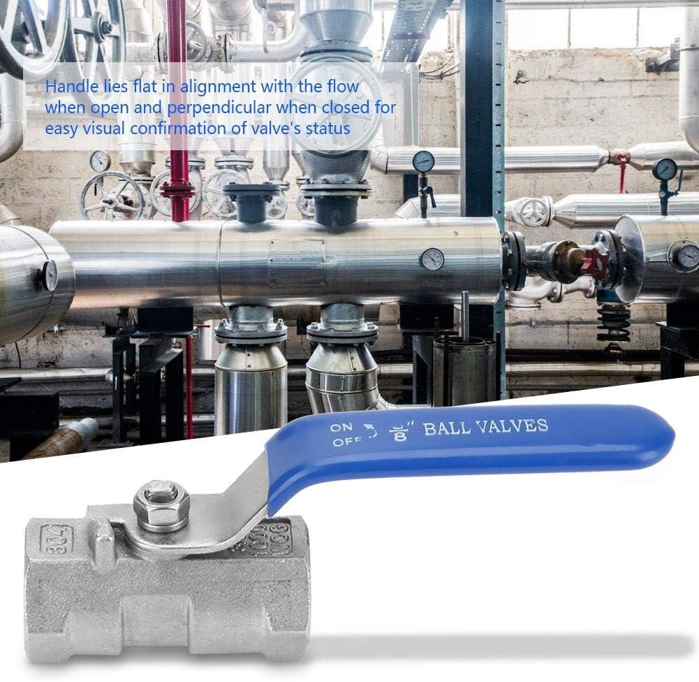 1-1//2(1.5寸) Pipe Ball Valve Stainless Steel SS304 Reduced Port Shut Off Valve Female Threaded BSP 6 Sizes for Water Fuel Gas 1Pcs Ball Valve