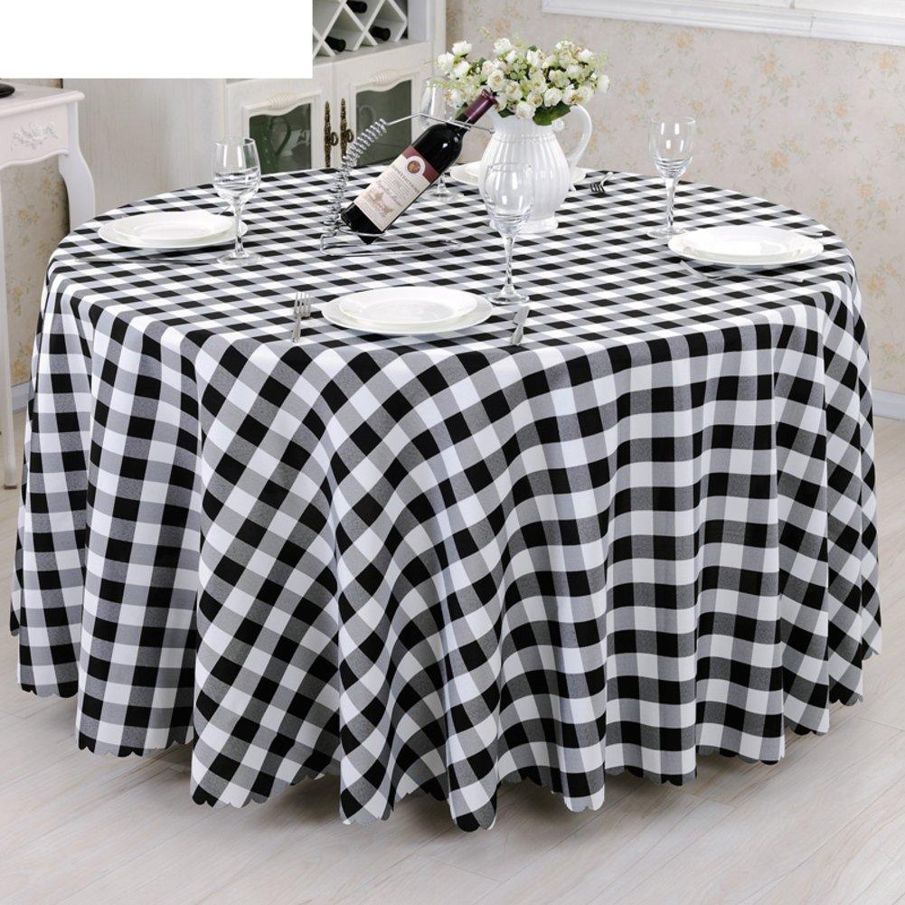 DE European Style karo Hotel tischtuch,Fabric Fashion Tea Tisch Cloth tischtuch-B Durchmesser280cm(110inch) F 120180cm