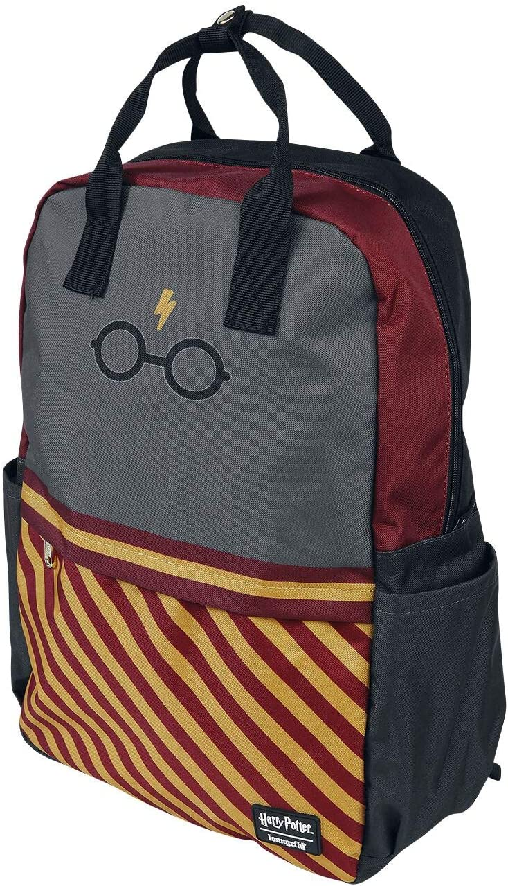 Loungefly x Harry Potter Glasses Gryffindor Nylon Backpack (One Size, Red/Yellow Multi)
