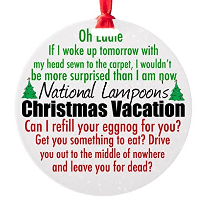Christmas Vacation Quotes.Amazon Com Cafepress Christmas Vacation Quotes Round