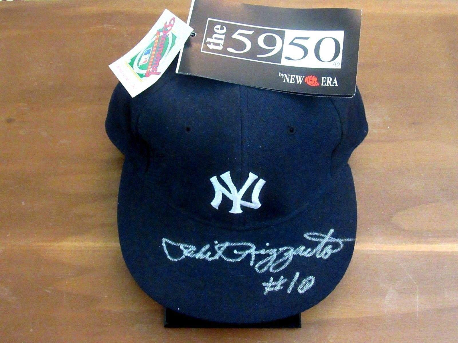 Phil Rizzuto # 10 New York Yankees Hof Signed Auto New Era 5950 Pro Cap JSA Certified Autographed Hats