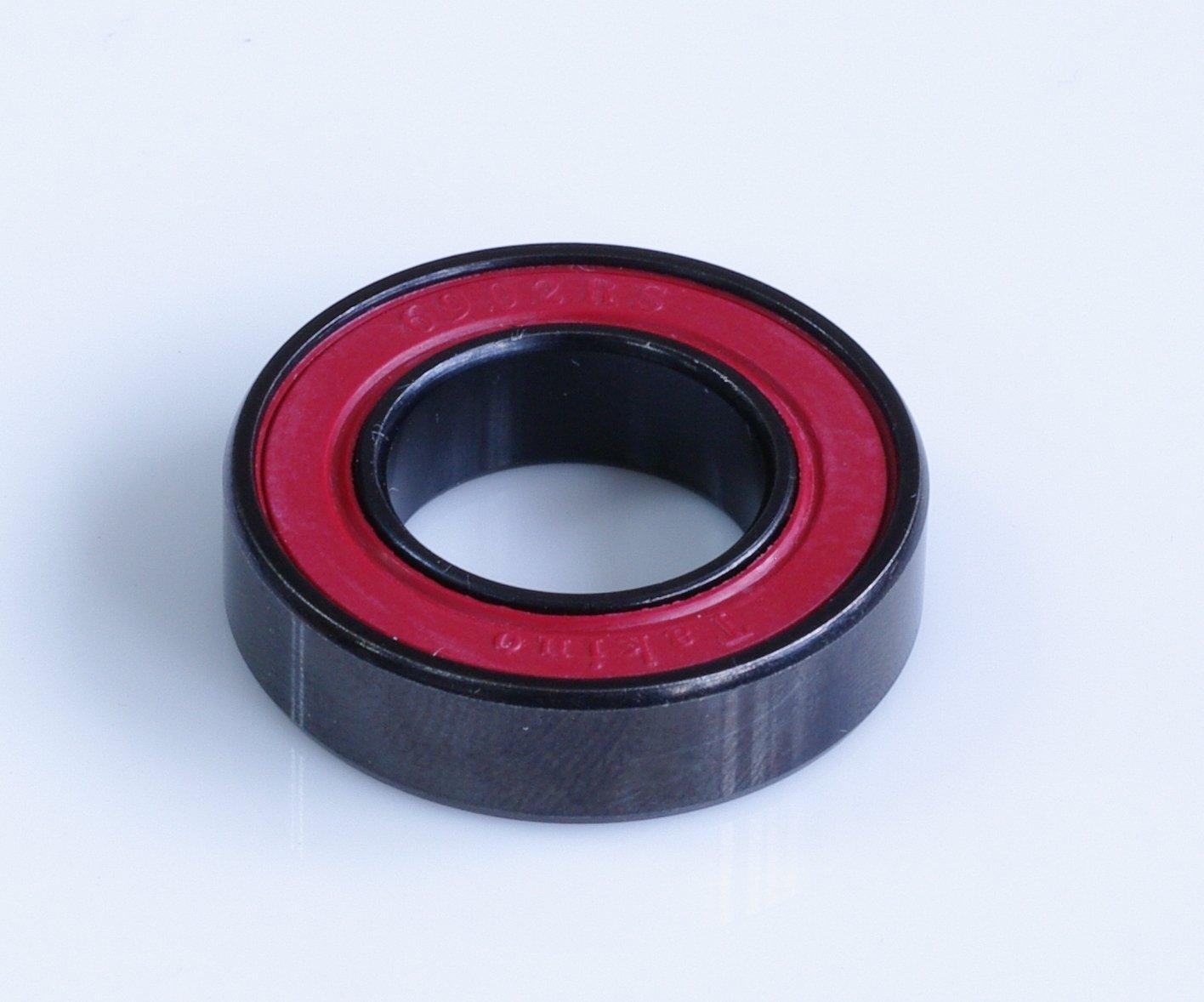 Black 15 x 28 x 7 mm Yuniper Ball Bearing 6902 2RS Nitro Burnished Bearing