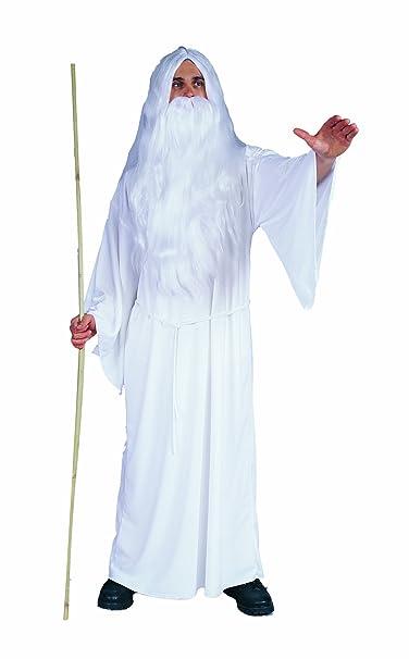 Amazon.com: RG Costumes Wizard Blanco de la Hombres, talla ...