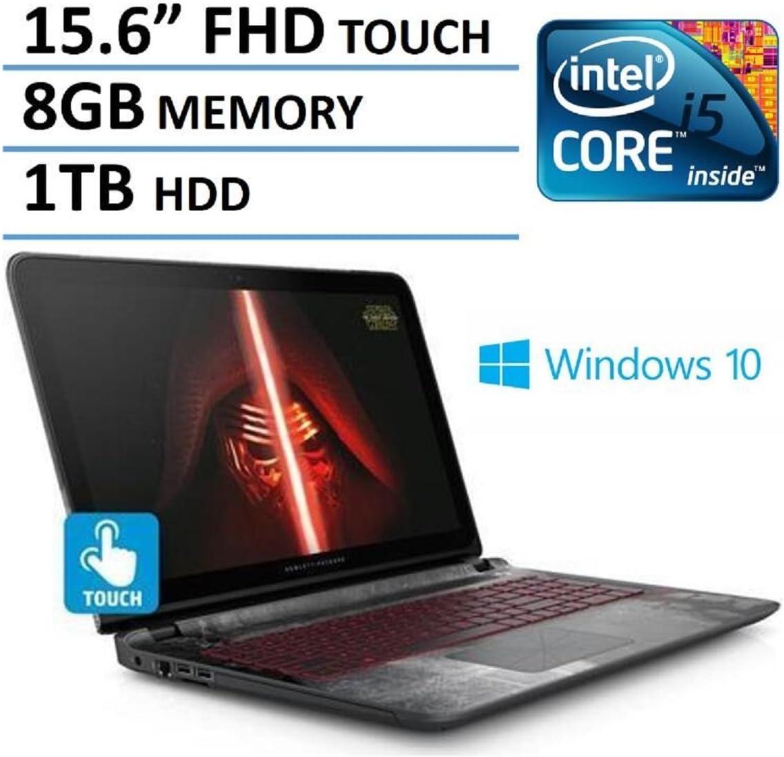Amazon Com 2016 Hp Star Wars Edition 15 6 Full Hd Ips Touchscreen Gaming Laptop Intel Core I5 6200u Processor Nvidia Geforce 940m Graphics 8gb Ram 1tb Hdd Dvd Rw Backlit Keyboard Windows 10 Computers
