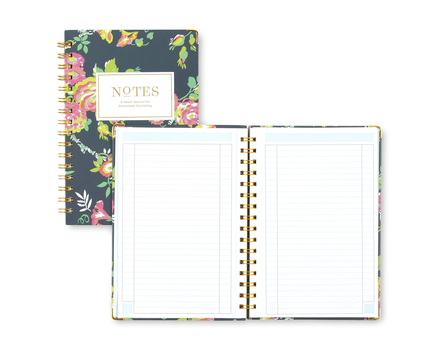 Day Designer for Blue Sky Notebook Journal, 160 Ruled Pages, Hardcover, Twin-Wire Binding, 5.75'' x 8.5'', Peyton Navy by Blue Sky (Image #3)