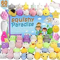POKONBOY 60 Pack Mochi Squishy Toys Squishies, Cat Panda Unicorn Squishy Mini Kawaii Squishies Birthday Party Favors…