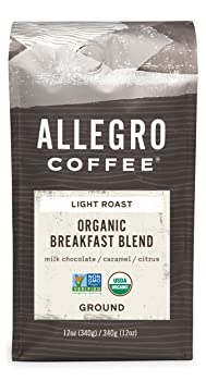 Allegro Coffee Organic Breakfast Blend Ground Coffee