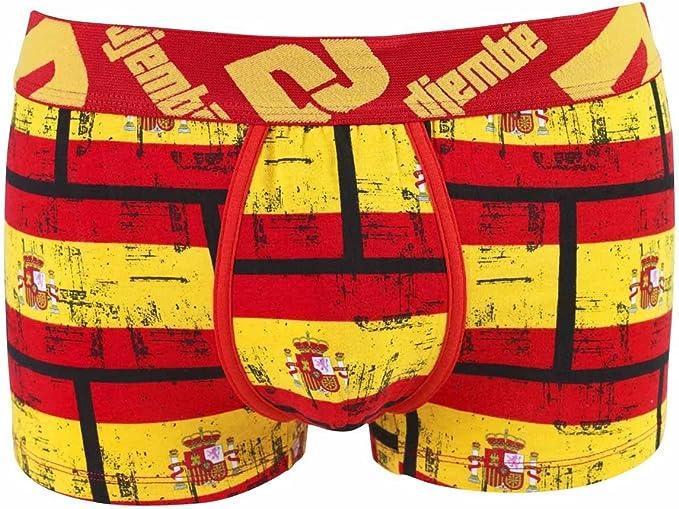 pomm Pera – Boxer Estampado Bandera España by Djembe – Hombre Multicolor Large: Amazon.es: Ropa y accesorios