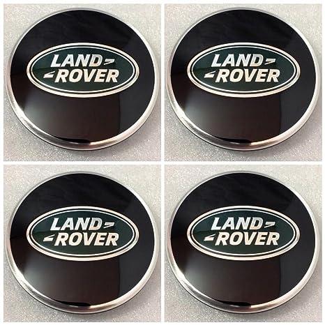 Tapacubos negros para neumáticos de Land Rover Discovery 3 4 Freelander 1 2 de 63 mm: Amazon.es: Coche y moto