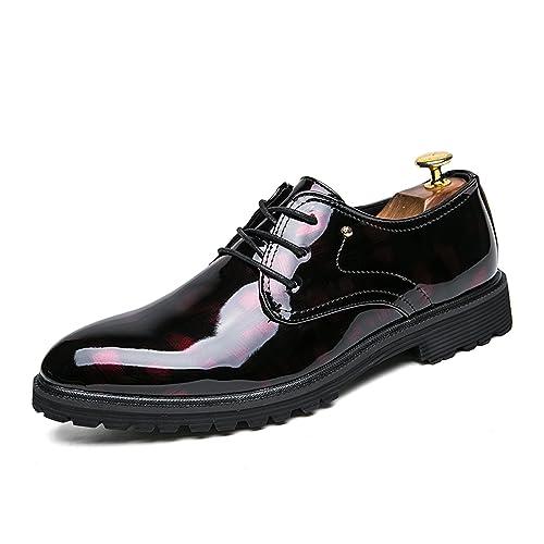 Zapatos Cuero Hombre Vestir Mocasines Zapatos Formales Oxford Clásico Zapatos Boda Fiesta: Amazon.es: Zapatos y complementos