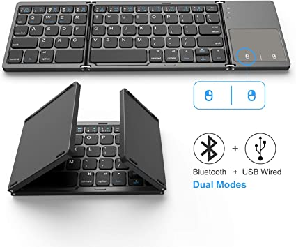 Foldable Bluetooth Keyboard Jelly Comb Dual Mode Bluetooth amp USB Wired Rechargable Portable Mini BT Wireless Keyboard with Touchpad Mouse for Androi at Kapruka Online for specialGifts