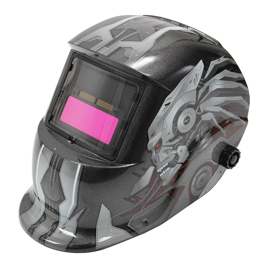TOOGOO mascara casco de soldadura de oscurecimiento auto solar patron de calavera mascara de soldador de molienda equipo de proteccion de soldadura