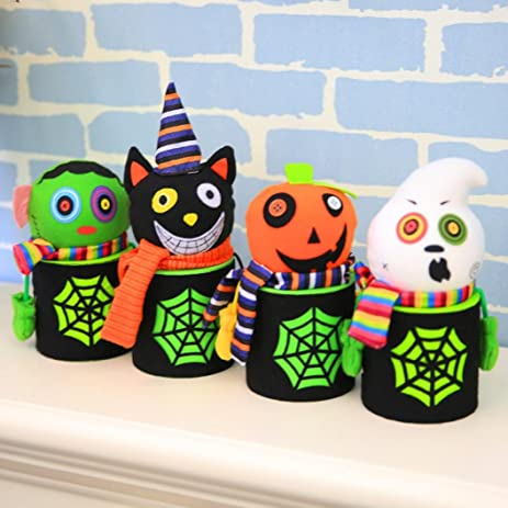 halloween candy jarzyooh 4pcs novelty puppet candy can decor box halloween birthday gift home