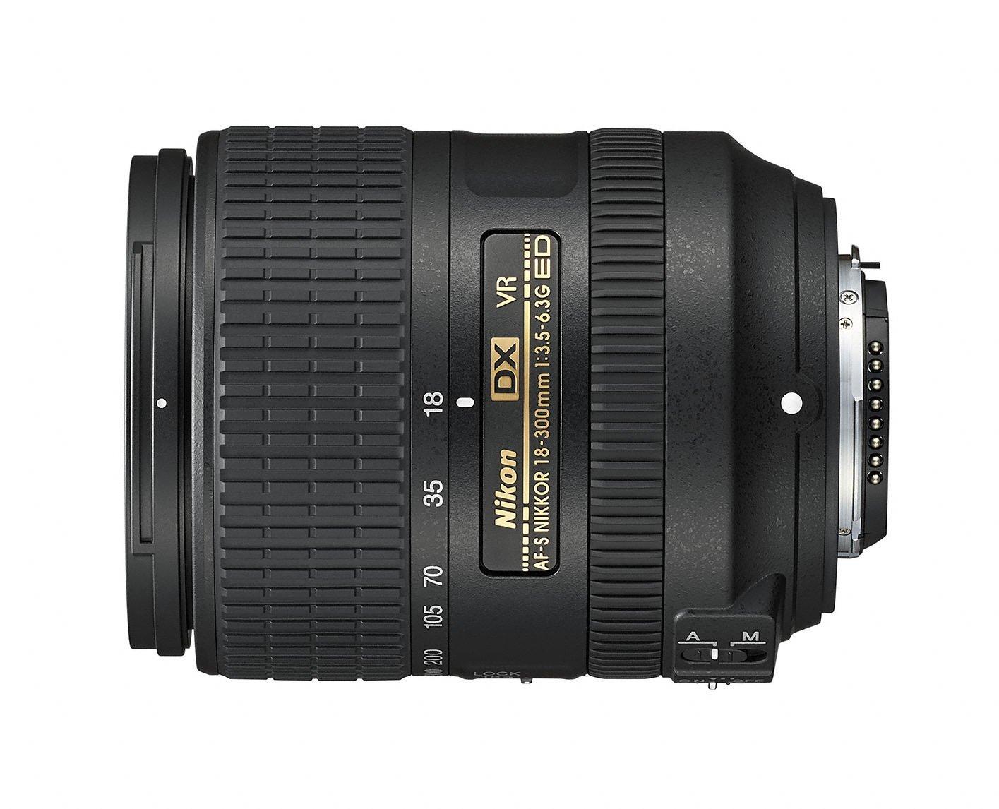 Nikon AF-S DX NIKKOR 18-300mm f/3.5-6.3G ED Vibration Reduction Zoom Lens with Auto Focus for Nikon DSLR Cameras by Nikon