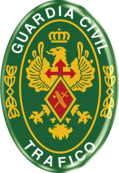 Artimagen Pegatina Oval Logotipo Guardia Civil Tráfico Resina ...